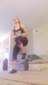 Getting my 30 minute workouts done at home.